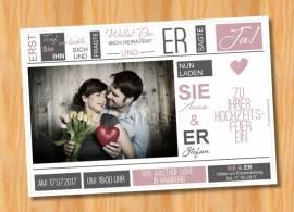 Ausgefallene Einladungskarten Einladungen Hochzeit 56 - Bild vergrößern