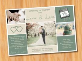 Ausgefallene Einladungskarten Einladungen Hochzeit 49 - Bild vergrößern