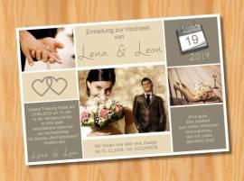 Ausgefallene Einladungskarten Einladungen Hochzeit 60 - Bild vergrößern