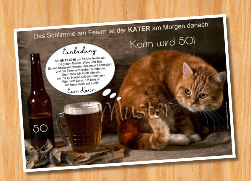 Einladungskarten Geburtstag tierische