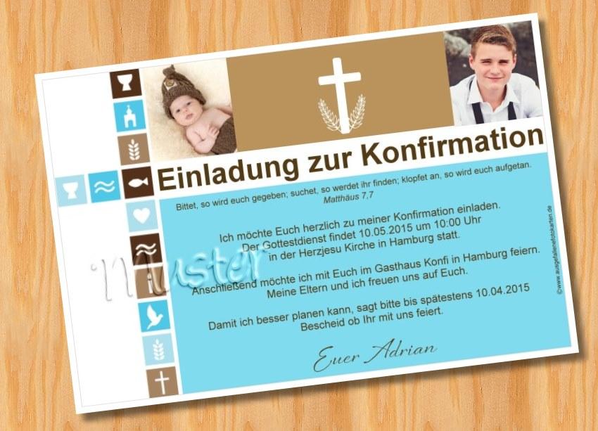 Ausgefallene Fotokarten Einladung Konfirmation Kommunion