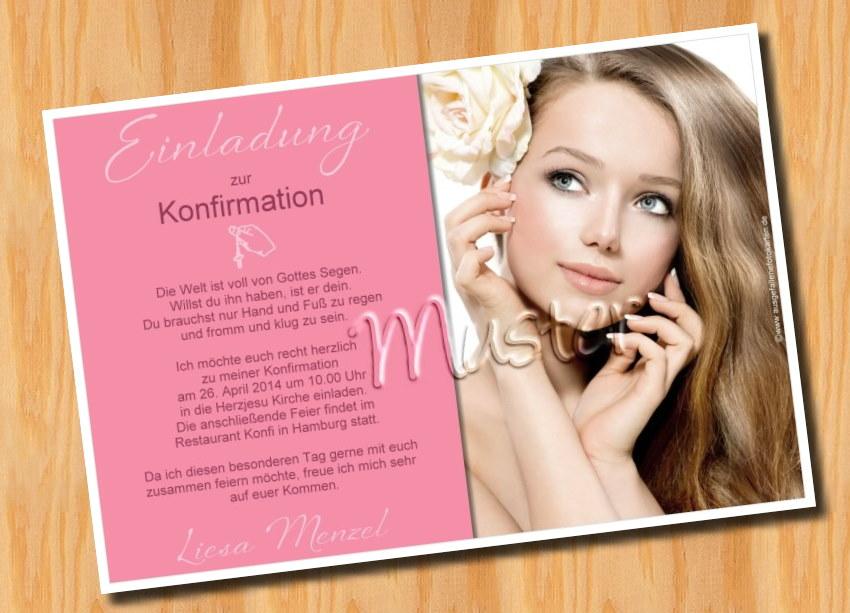 ausgefallene fotokarten: einladung konfirmation kommunion, Einladung
