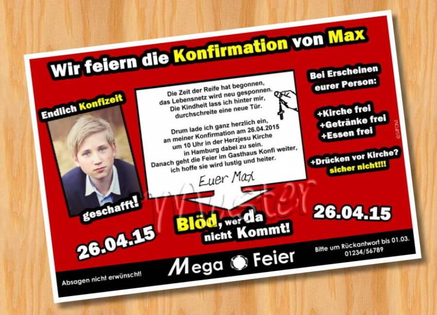 witzige einladungskarten konfirmation, Einladungen
