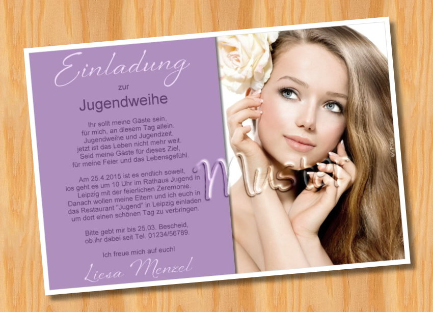 einladungskarten jugendweihe, Einladung