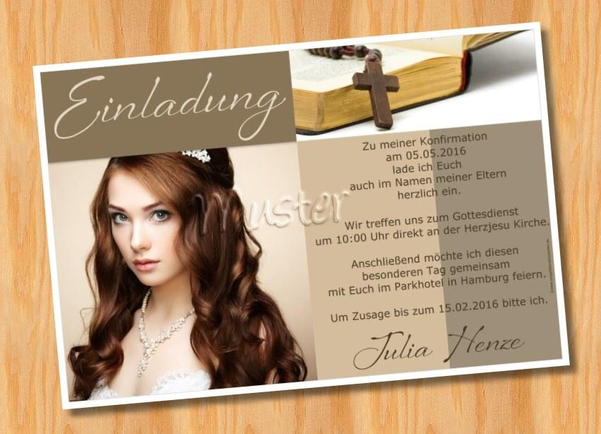 einladungskarten konfirmation kommunion, Einladung