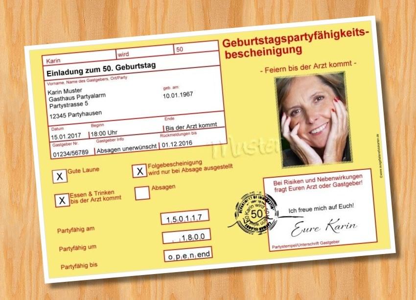 Ausgefallene Fotokarten: Geburtstag Einladung MUSTER 6