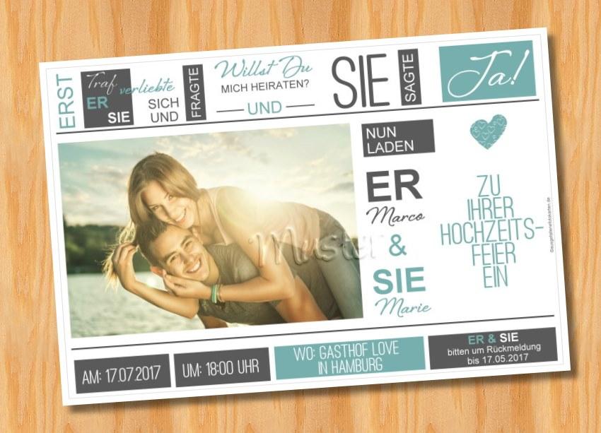 Ausgefallene Einladungskarten Einladungen Hochzeit 55
