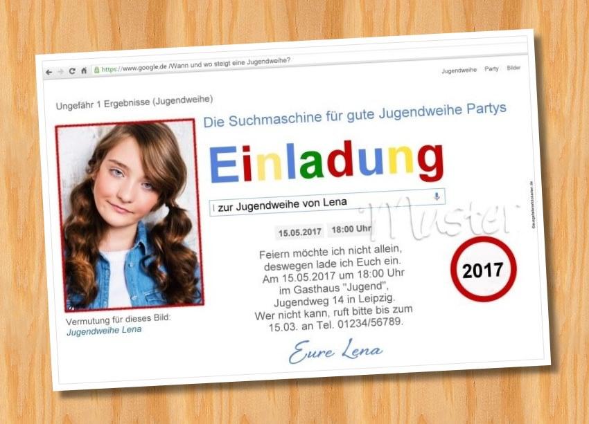 Ausgefallene Einladungskarten Jugendweihe 79