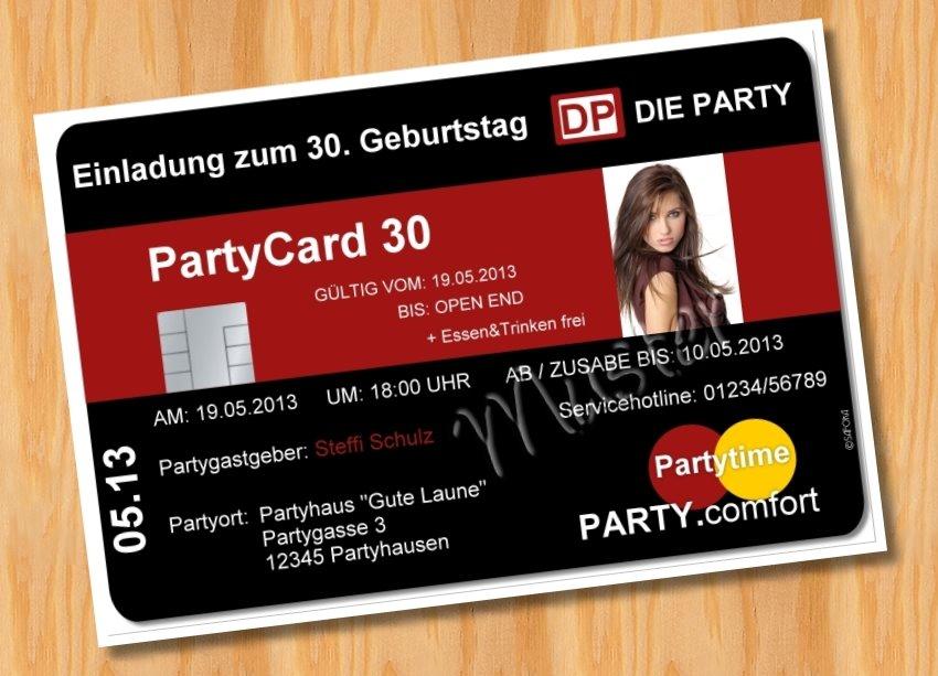 einladungskarten geburtstag, Einladung