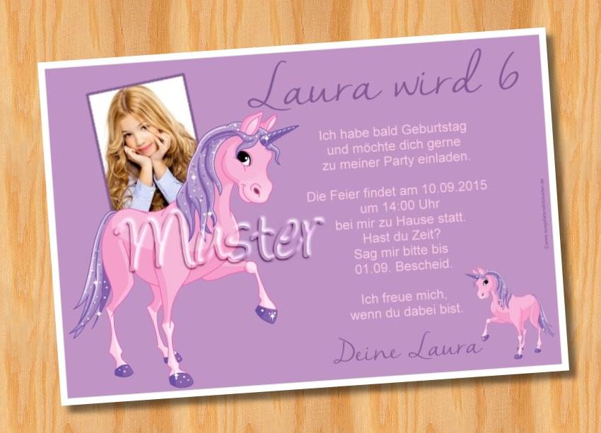 Kindergeburtstag Einladungskarten Pferd 45