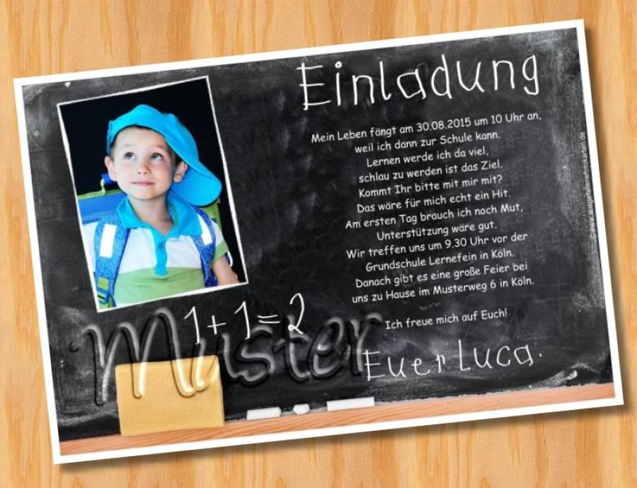 Fesselnd Einladung Einschulung Schulanfang MUSTER 25