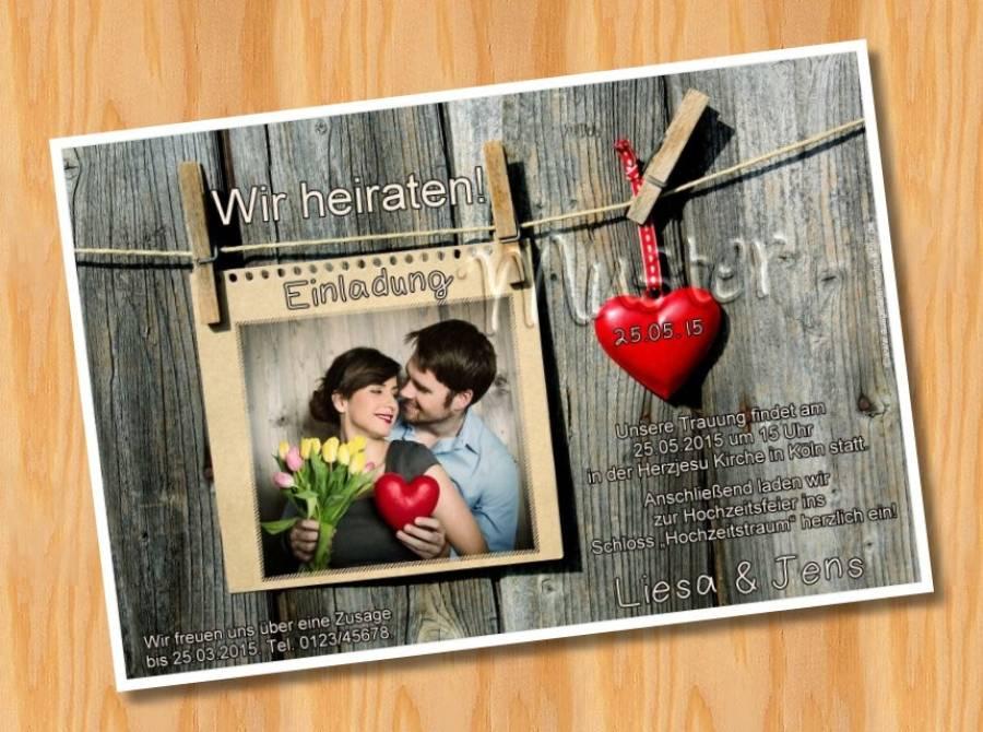 Einladungskarten Einladungen Hochzeit MUSTER 27