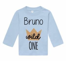 1. Geburtstag Baby Langarm Shirt Kinder Namen bedruckt personalisiert 12 - Bild vergrößern