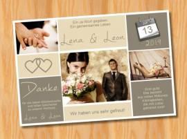 Ausgefallene Dankeskarten Danksagungskarten Hochzeit 60 - Bild vergrößern