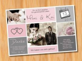 Ausgefallene Dankeskarten Danksagungskarten Hochzeit 80 - Bild vergrößern
