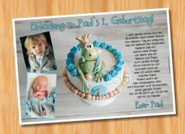 Ausgefallene Einladungskarten Einladungen Kindergeburtstag 72 - Bild vergrößern