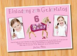 Ausgefallene Einladungskarten Kindergeburtstag Pferde 83 - Bild vergrößern