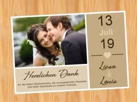 Ausgefallene Dankeskarten Danksagungskarten Hochzeit 84 - Bild vergrößern