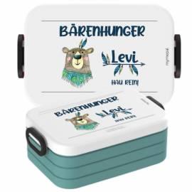 Brotdose Lunchbox mit Namen Geschenk Einschulung Kita Bär 2  - Bild vergrößern