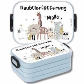 Brotdose Lunchbox mit Namen Geschenk Einschulung Kita Boho 2 - Bild vergrößern