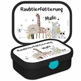 Brotdose Lunchbox mit Namen Geschenk Einschulung Kita Boho - Bild vergrößern