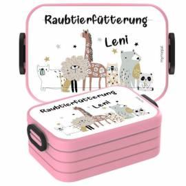 Brotdose Lunchbox mit Namen Geschenk Einschulung Kita Boho 4 - Bild vergrößern