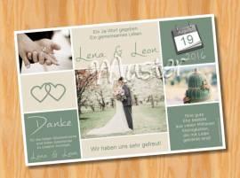 Dankeskarten Danksagungen Hochzeit 49 - Bild vergrößern