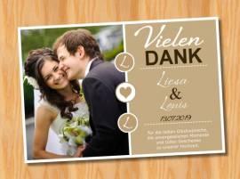 Ausgefallene Dankeskarten Danksagungskarten Hochzeit 81 - Bild vergrößern