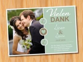 Ausgefallene Dankeskarten Danksagungskarten Hochzeit 82 - Bild vergrößern