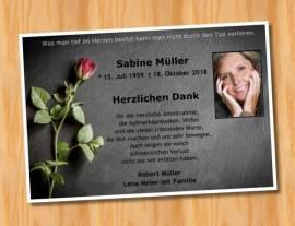 Trauerkarten Danksagungskarten Dankeskarten 11 - Bild vergrößern