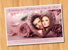 Einladungskarten Einladungen Hochzeit 50 - Bild vergrößern