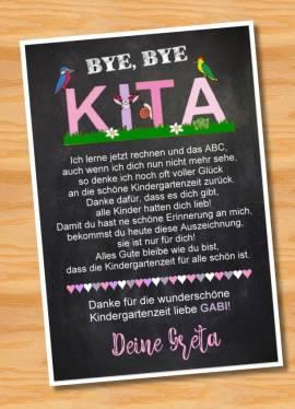 Poster Abschied Kindergarten Abschiedsgeschenk Erzieherin 2 - Bild vergrößern
