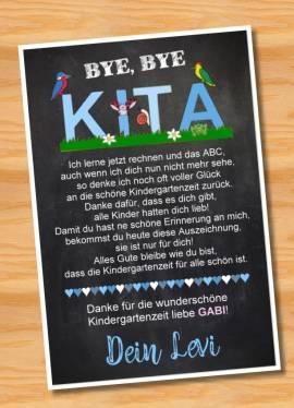 Poster Abschied Kindergarten Abschiedsgeschenk Erzieherin 3 - Bild vergrößern