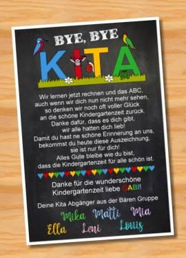 Poster Abschied Kindergarten Abschiedsgeschenk Erzieherin 4 - Bild vergrößern