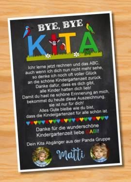 Poster Abschied Kindergarten Abschiedsgeschenk Erzieherin 5 - Bild vergrößern