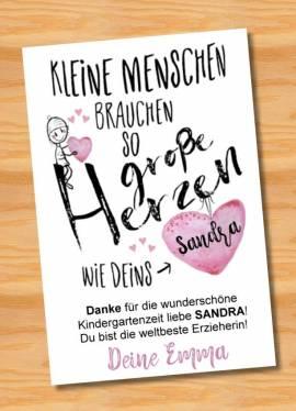 Poster Abschied Kindergarten Abschiedsgeschenk Erzieherin 6 - Bild vergrößern