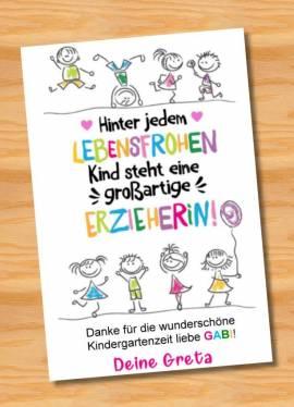 Poster Abschied Kindergarten Abschiedsgeschenk Erzieherin 9 - Bild vergrößern