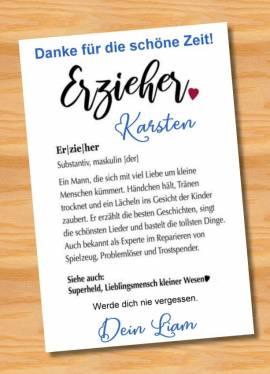 Poster Abschied Kindergarten Abschiedsgeschenk Erzieher 10 - Bild vergrößern