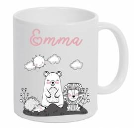 Kinder Tasse bedruckt personalisiert Geschenk Boho 3 - Bild vergrößern