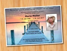 Trauerkarten Sterbekarten Einladungskarten 5 - Bild vergrößern