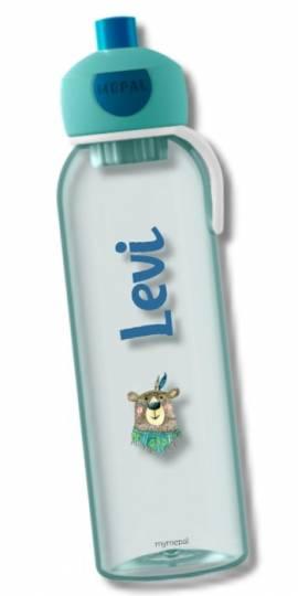 Wasserflasche Trinkflasche mit Namen Geschenk Einschulung Kita Bär - Bild vergrößern