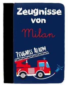 Zeugnissmappe Dokumentenmappe personalisiert Feuerwehr 5 - Bild vergrößern