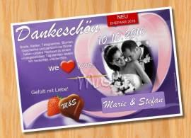 Dankeskarten Danksagungen Hochzeit 47 - Bild vergrößern