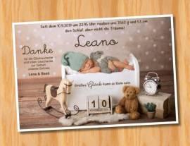Ausgefallene Babykarten cute Baby Danksagungskarten Geburt 422 - Bild vergrößern