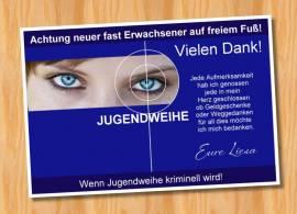 Ausgefallene Danksagungskarten Danksagungen Jugendweihe Tatort 66 - Bild vergrößern