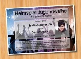 Ausgefallene Einladungskarten Jugendweihe 98 - Bild vergrößern