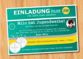 Ausgefallene Einladungskarten Jugendweihe 94 - Bild vergrößern