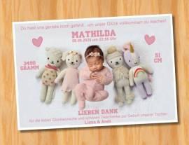 Ausgefallene Baby cute  Danksagungskarten Danksagungen Geburt 490 - Bild vergrößern