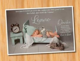 Ausgefallene Babykarten cute Baby Danksagungskarten Geburt 418 - Bild vergrößern