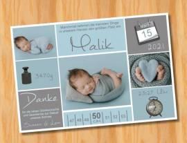 Ausgefallene Baby cute  Danksagungskarten Danksagungen Geburt 507 - Bild vergrößern